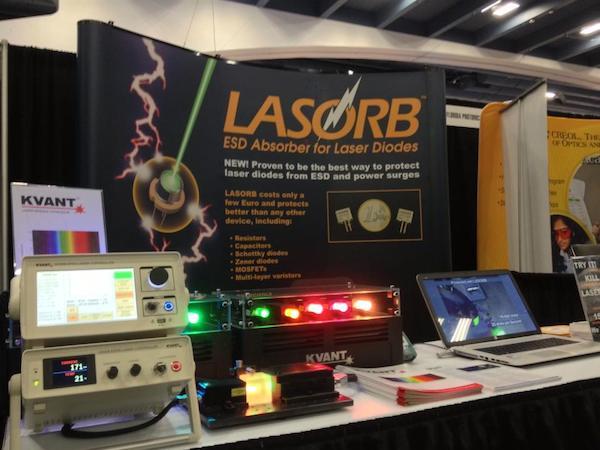 KVANTレーザーモジュールとLASORBダイオードを静電気から守る