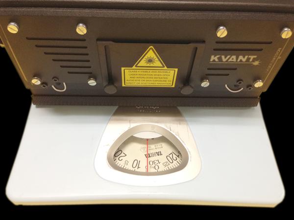 レーザーの重さを計量