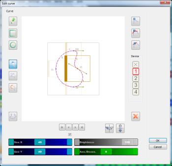 レーザーマトリクス lazermatrix curve movement editor
